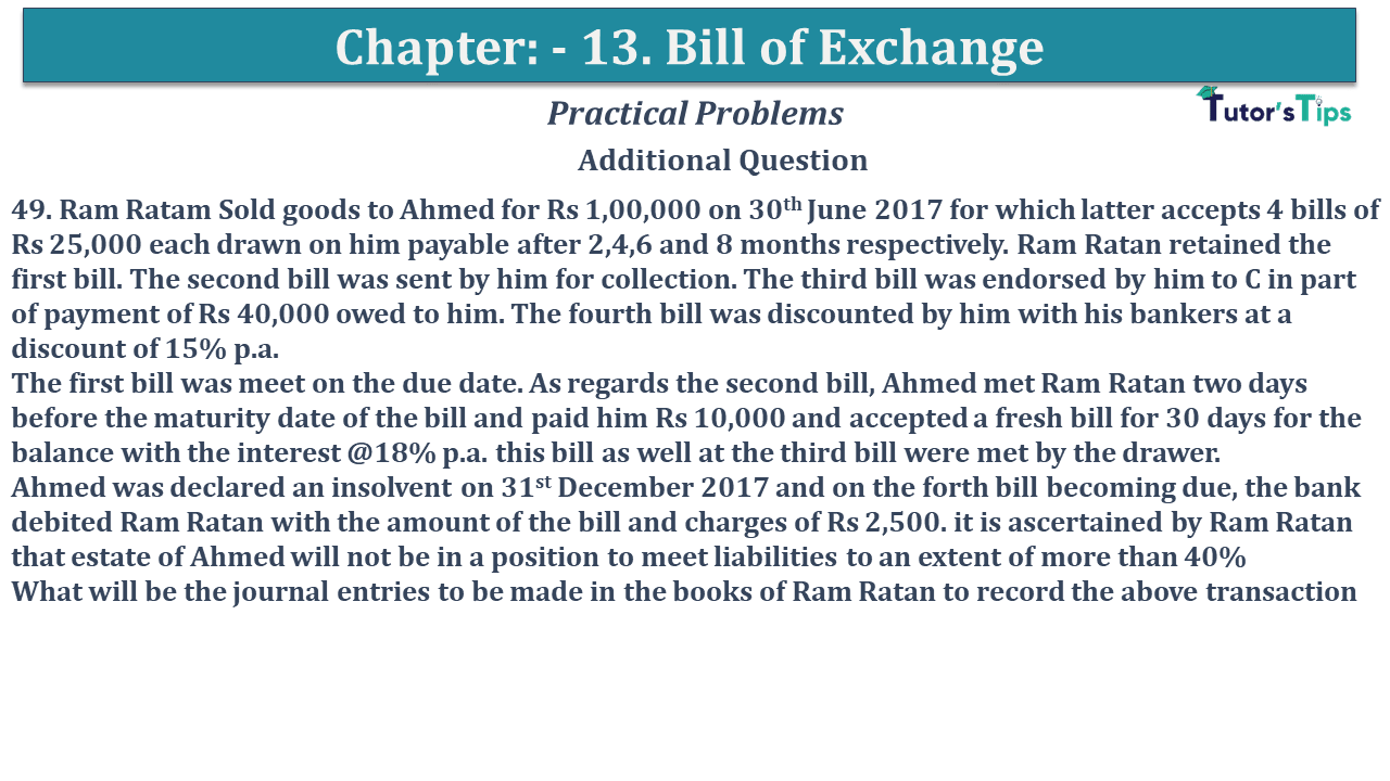 Question No 49 Chapter No 13