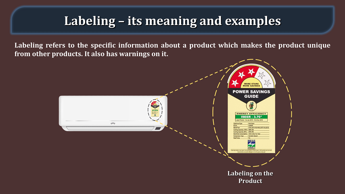 Labeling – its meaning and examples