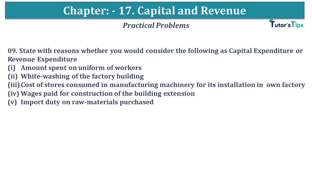 Question No 09 Chapter No 17