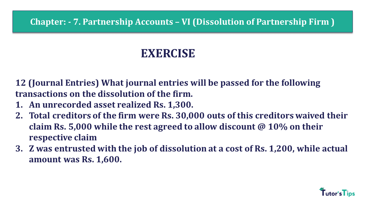 Question 12 Chapter 7 of +2- Part