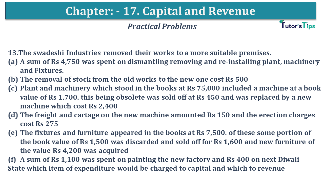 Question No 13 Chapter No 17