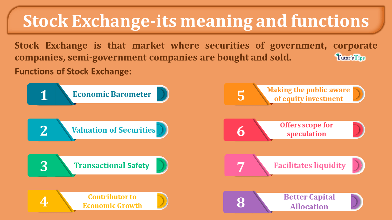 Stock Exchange-its meaning and functions-min